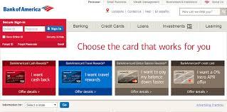 bank of america credit card status online bankofamerica com