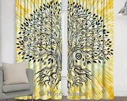 Yellow Drapery Yellow Curtains Etsy