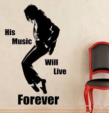 aliexpress com buy michael wall decal pop music singer