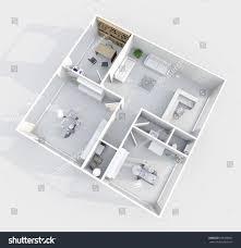 3d interior rendering dental clinic two stock illustration