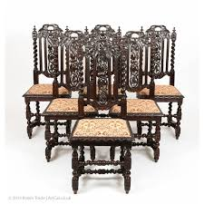 Victorian Dining Room Chairs Gothic Style Furniture Antique Set Of 6 Victorian Gothic Oak High