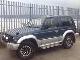 mitsubishi pajero 3 0 v6 swb petrol 3 doors auto 4x4 blue in