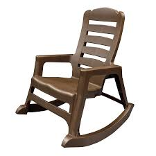 Rocking Chair Shop Adams Mfg Corp Earth Brown Resin Stackable Patio Rocking
