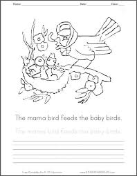 free printable mama baby birds coloring sheet student handouts