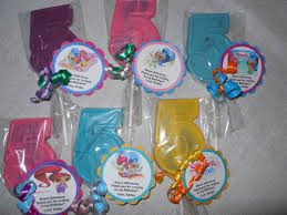 lollipop party favors 24 shimmer and shine 5th birthday lollipop party favors with tags