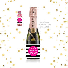 pink she u0027s about to pop mini champagne baby shower favor labels