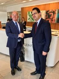 ladari made in italy ottati e il ministro tunisino zied ladhari alla