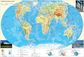 World Physical Map by Physical Map Of The World Course Of Economic And Social