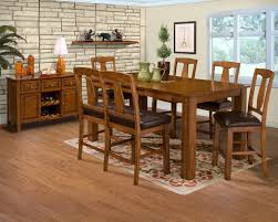 rustic wood dining room table shiny brown varnishes teak wood