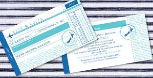 kate u0026 colin u0027s airline ticket wedding invitation ink wedding