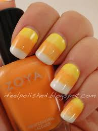 i feel polished halloween nails candy corn