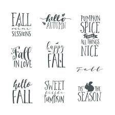 fall word art overlays vol 2