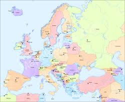 africa map with country names and capitals map of europe europe map travel