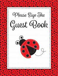 ladybug baby shower baby shower guest list set ladybug baby shower theme for baby girl