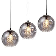 Pendant Light For Kitchen by Overstock 3 Light Grey Glass Shade Pendant Light For Kitchen