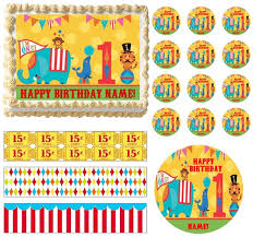 circus cake toppers carnival birthday animals edible cake topper circus cake