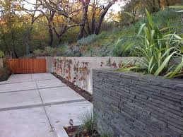 Retaining Wall Design Ideas by Exterior Design Natural Rocks Retaining Wall Design With Chimney