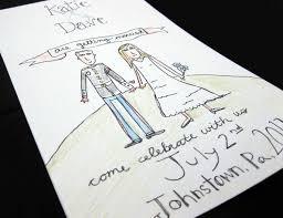 Credit Card Wedding Invitations Hand Drawn Wedding Invitation Cards Pinterest Weddings