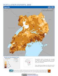 Map Of Uganda Maps Population Density Grid V1 Sedac