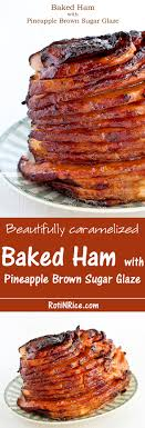 baked ham with pineapple brown sugar glaze recipe brown sugar