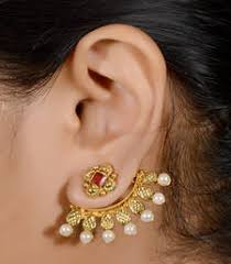 ear cuffs online antique 2 in one stud ear cuff indian jewelry ear rings and