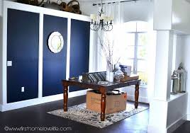 Navy Blue Dining Room Going Bold Navy Blue Dining Room Accent Wall Hometalk