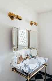 Home Hardware Design Centre Sussex by Aimee Song U0027s Bathroom Is Goals Love The Gold Hardware Paired With