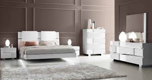 White High Gloss Bedroom Furniture by Made In Italy Wood Modern Contemporary Master Beds Los Angeles