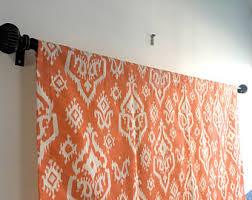 Orange Kitchen Curtains Sale Orange Valance Etsy