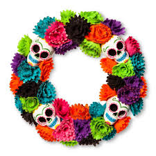 day of the dead home decor day of the dead wreath 20 best halloween wreaths popsugar