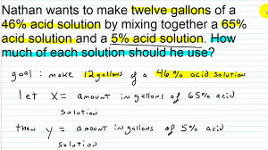algebra i help systems of linear equations word problems part iii 1 2 you