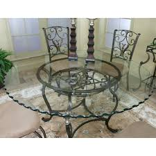 Wrought Iron Dining Room Chairs Cramco J9811 4 Wescot Round Glass Top Dining Table Kitchen Table