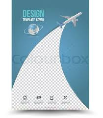 report front page template cover page layout template with paper airplane vector