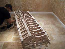 corner wine racks constructed of maple with true radius shelves