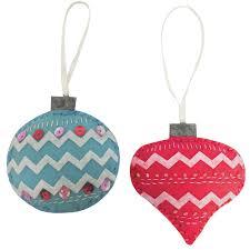 pair of baubles felt decoration craft kit festive craftin
