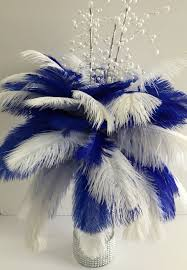 Wedding Feathers Centerpieces by Best 25 Royal Blue Centerpieces Ideas On Pinterest Royal Blue