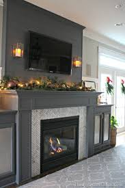 Paint Tile Fireplace by Best 25 Painted Fireplace Mantels Ideas On Pinterest Fireplace