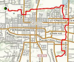 us map searcy arkansas searcy bike and walking trail arkansas maps photos reviews