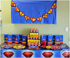 superman birthday theme party home party ideas
