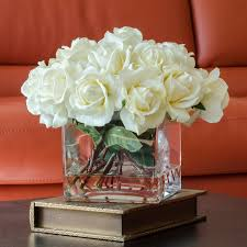 White Roses Centerpiece by White Artificial Flowers Google Search My Room Pinterest