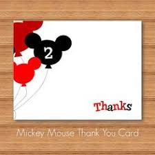 mickey mouse thank you cards instant mickey mouse thank you card diy printable
