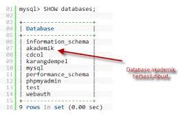 membuat database akademik dengan mysql bagaimana cara membuat menggunakan dan menghapus database di mysql