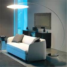 Curved Floor Lamp Excellent Large Curved Floor Lamp With C Shape Silver Lamps