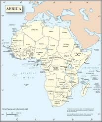 Africa Continent Map by English Africa Map World Map