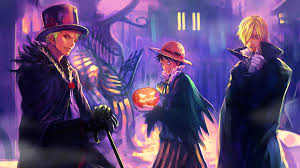 anime halloween backgrounds vampire zoro luffy sanji wallpaper hd