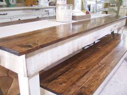 Wood Kitchen Tables by Farmhouse Benches For Dining Tables 90 With Farmhouse Benches For