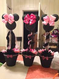 minnie mouse pink cheetah baby shower centerpiece for my niece
