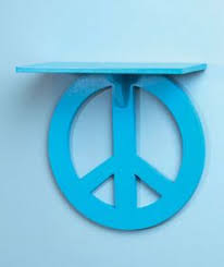peace sign bedroom retro groovy peace sign end table night stand 3 colors to choose