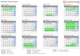 Kalender 2018 Hessen Ausdrucken Kalender 2016 Ferien Hessen Feiertage