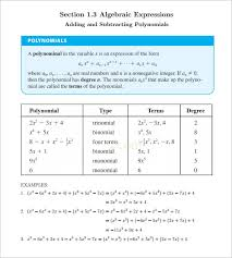 10 college algebra worksheet templates u2013 free word u0026 pdf